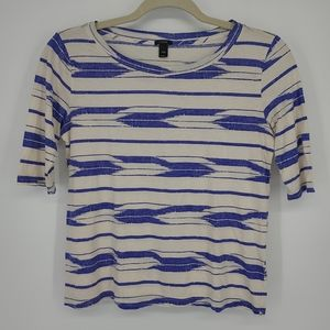 4/$25 J Crew Chevron Print Fitted Short Sleeve Top